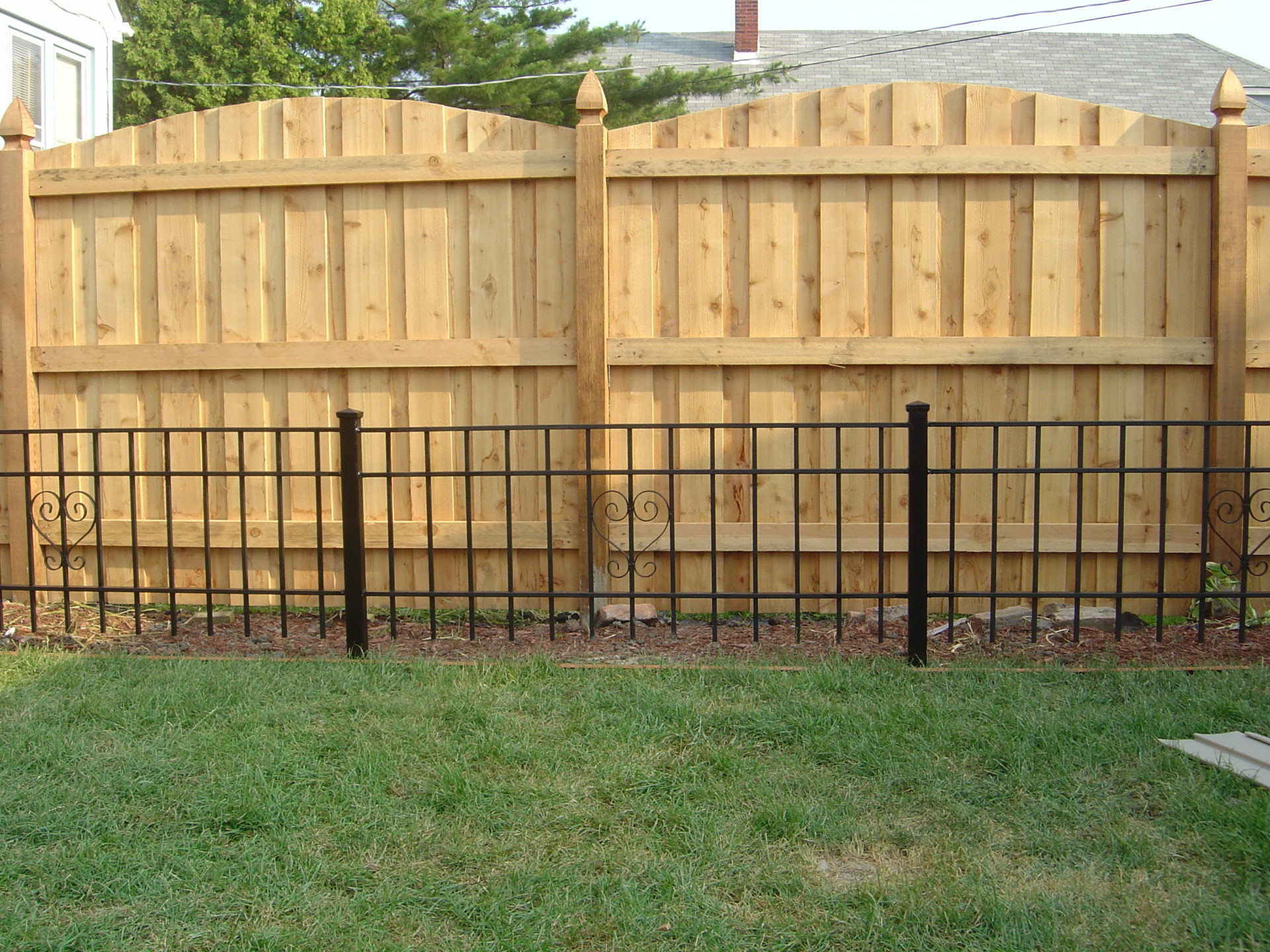 board and batten arch family fences