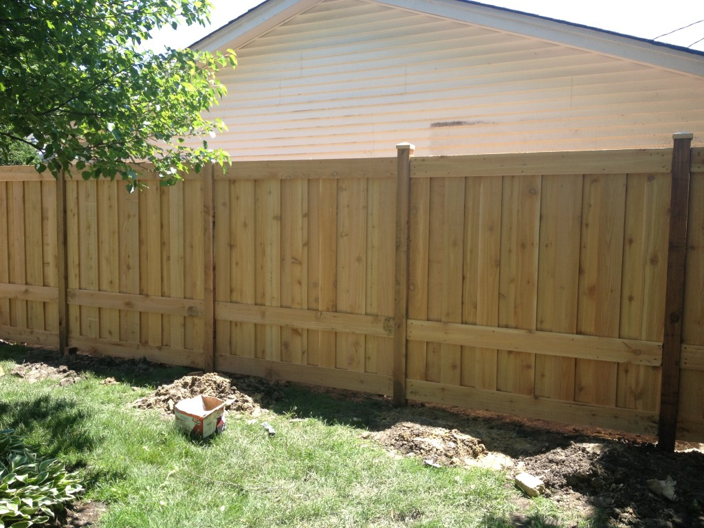 Board And Batten With Top Rail Family Fences